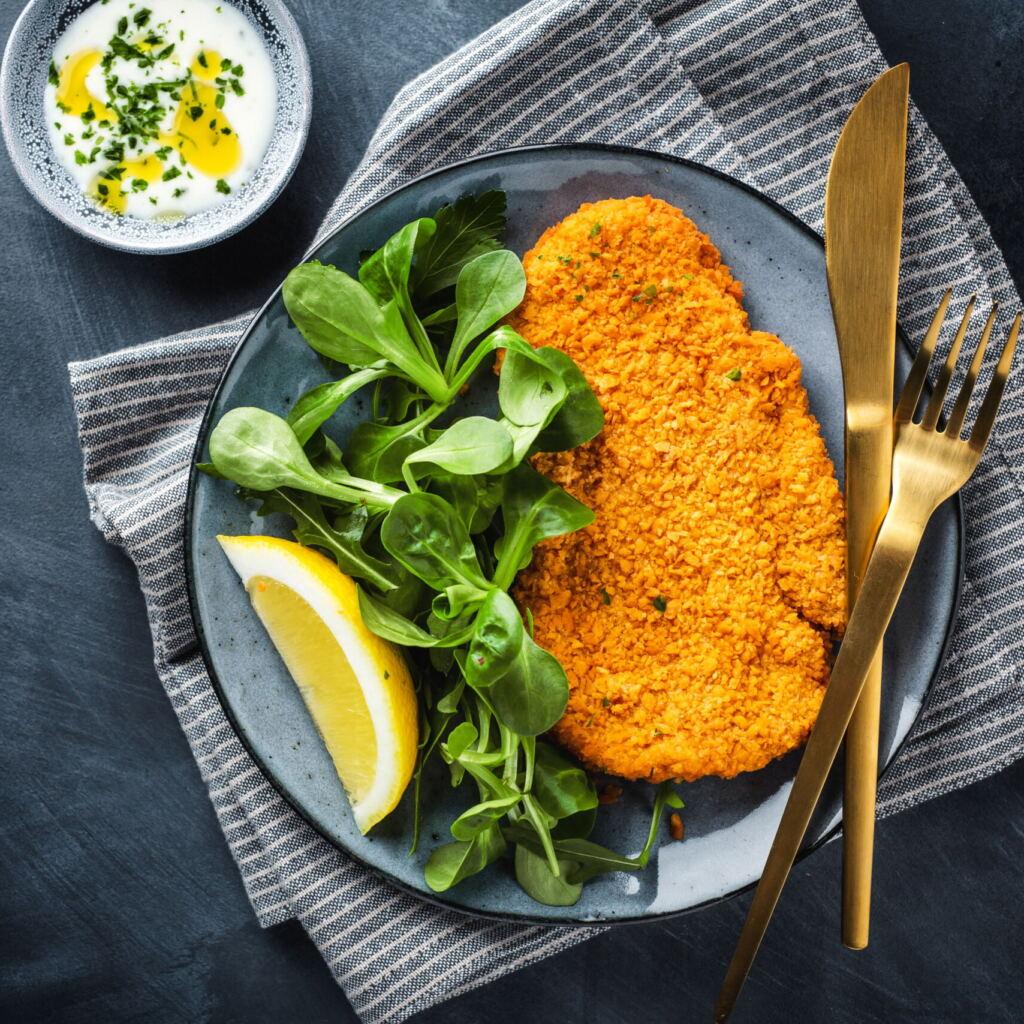 Chicken Schnitzel In Breadcrumbs