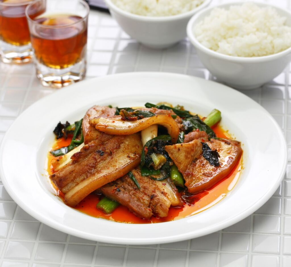 marinated pork belly strips