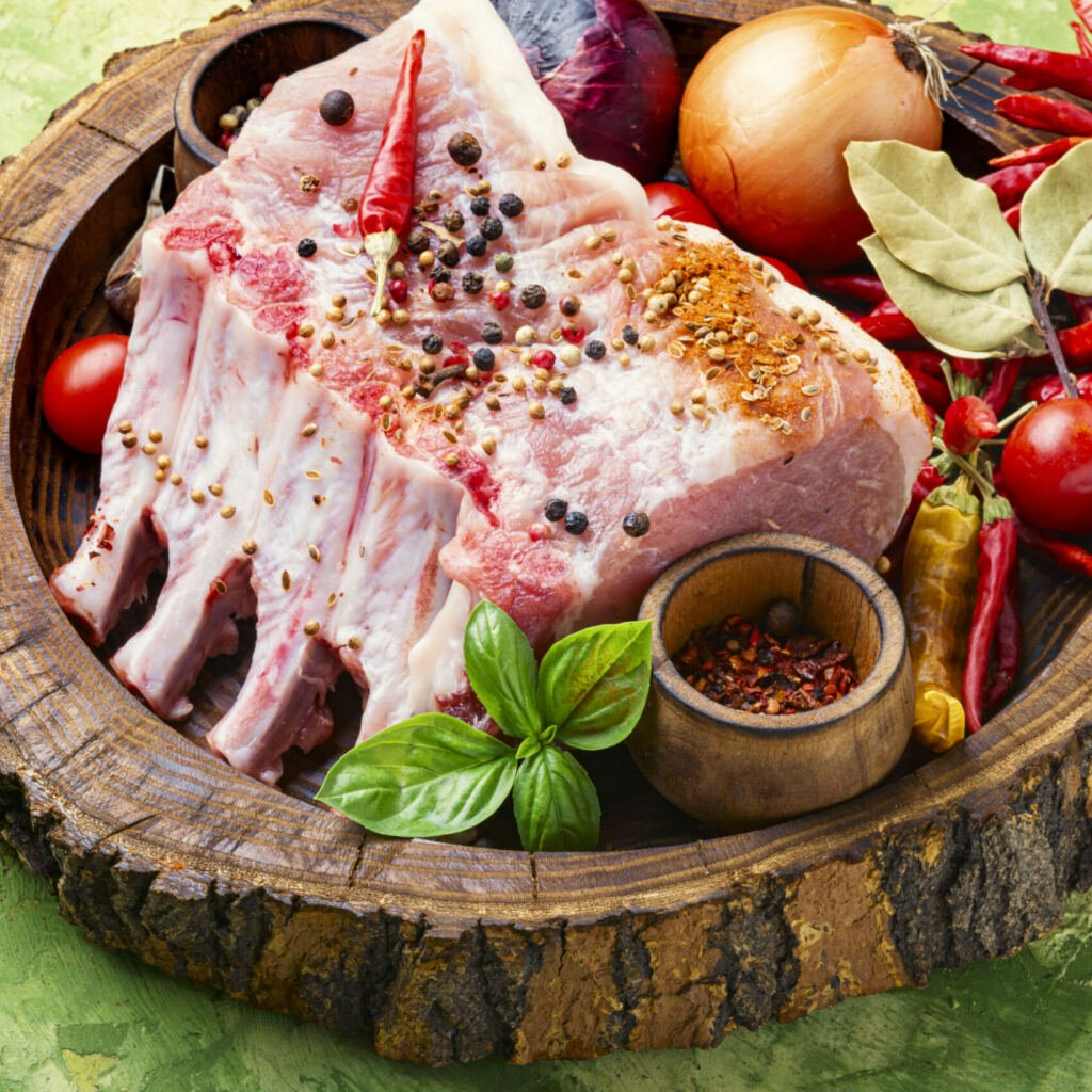 Frenched rack of pork