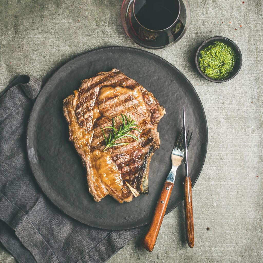 grilled beef cowboy steak