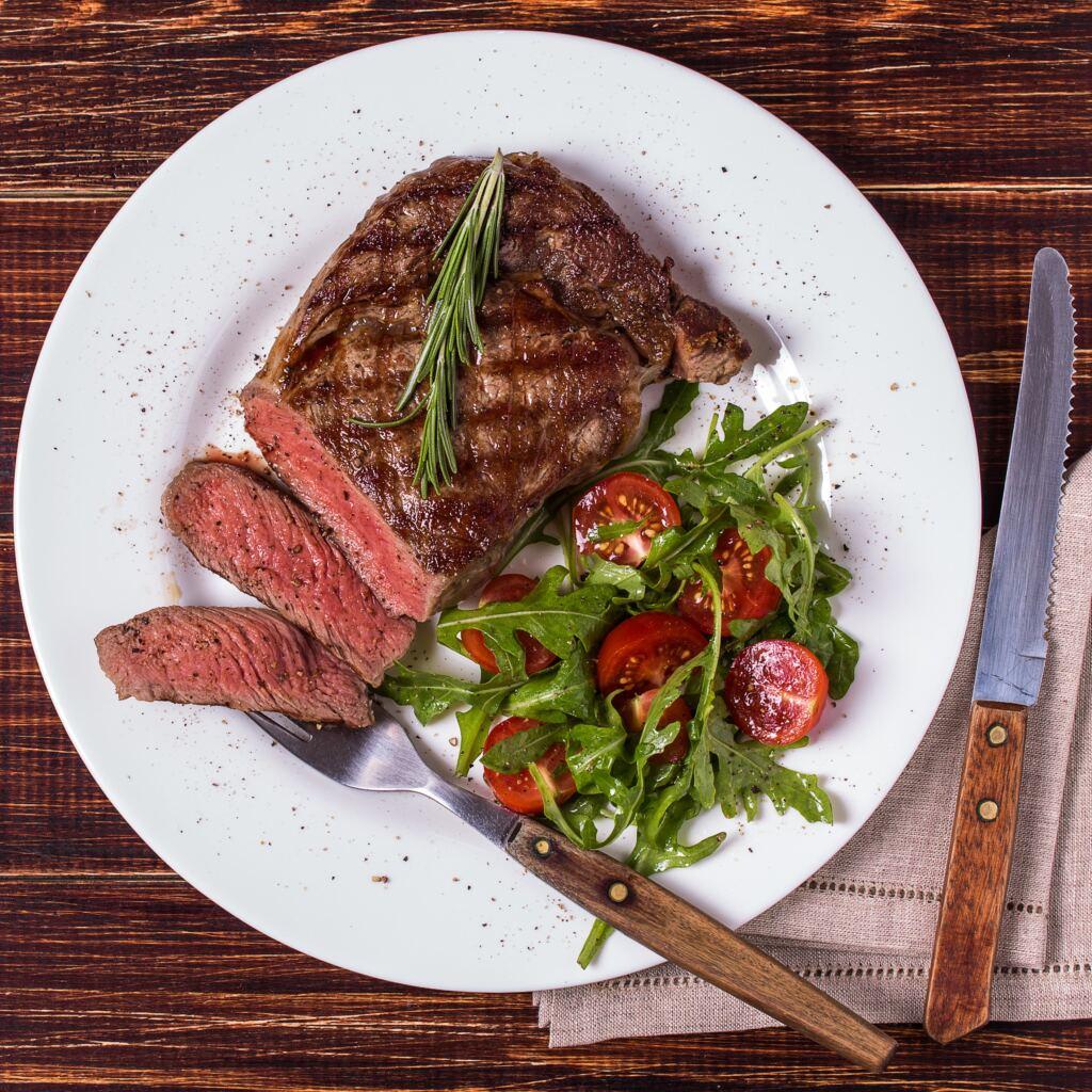 ribeye steak grilled