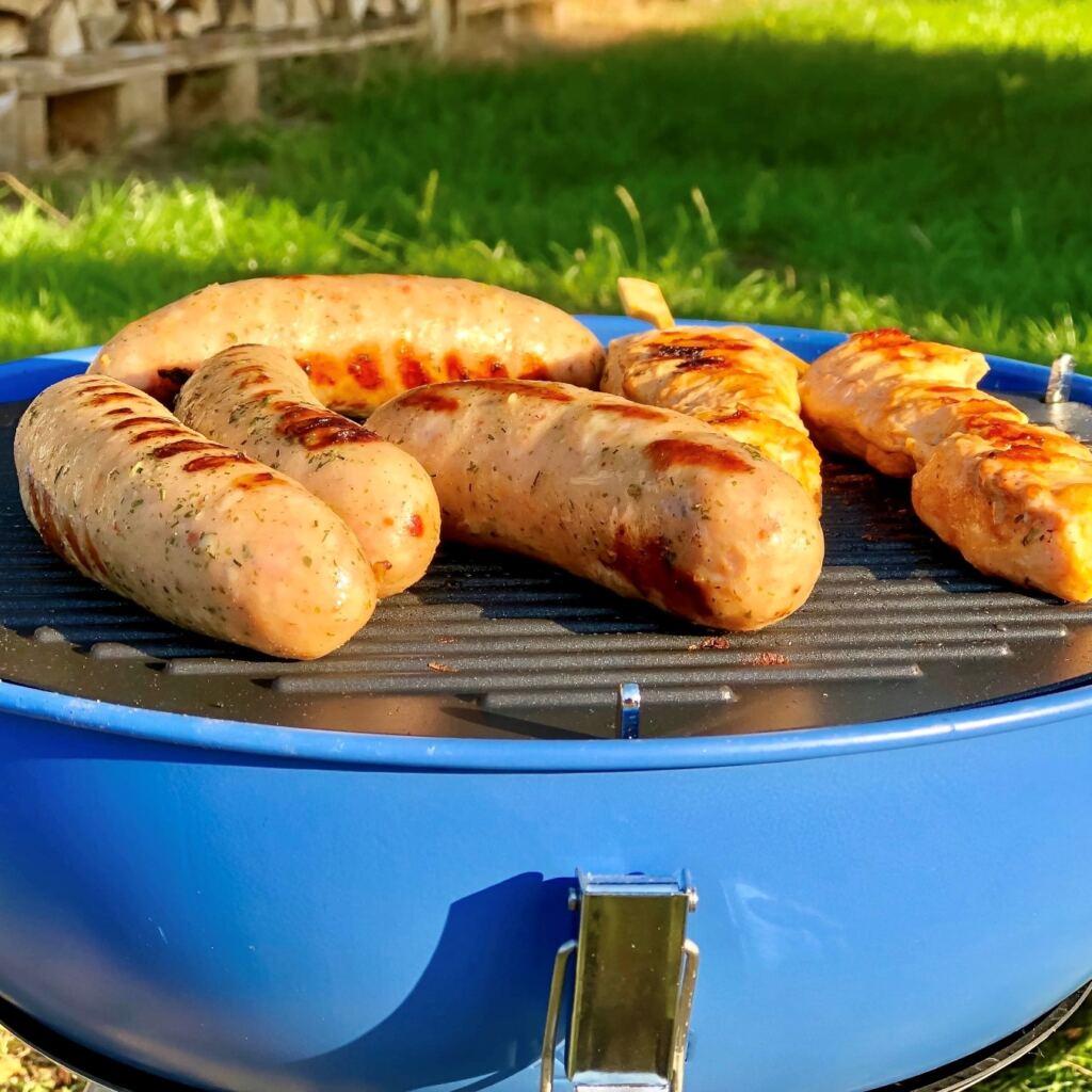 grilled traditional pork sausages